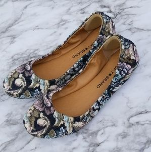 Lucky Brand floral flats